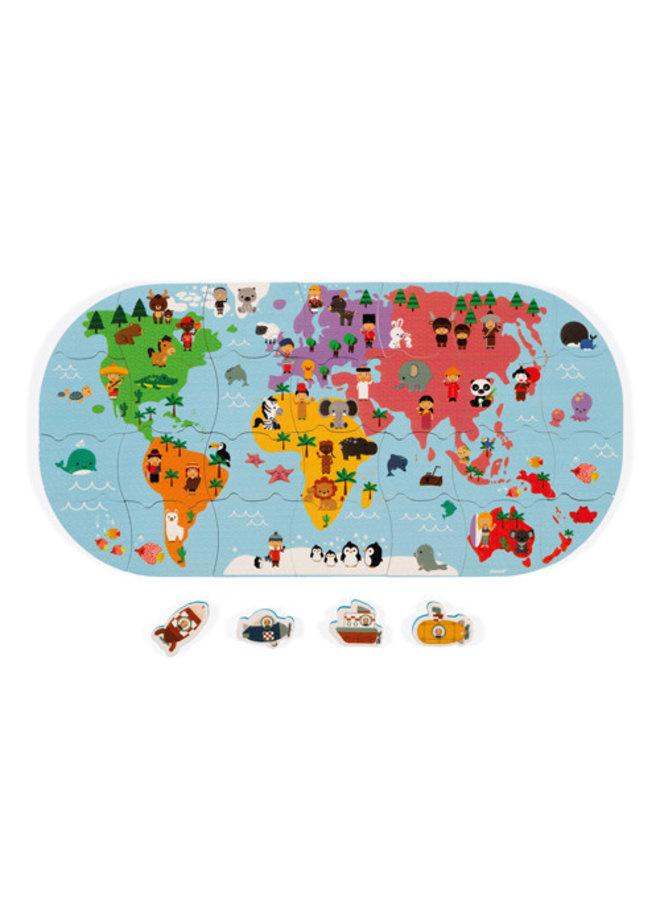 Janod - Badspeelgoed - Wereldkaart