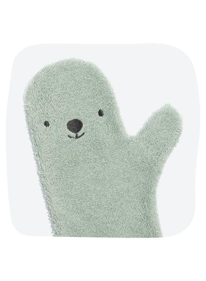 Invented4kids - Baby shower glove - Green - Bear