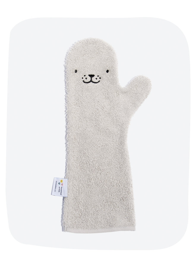 Invented4kids - Baby shower glove - Grey - Seal