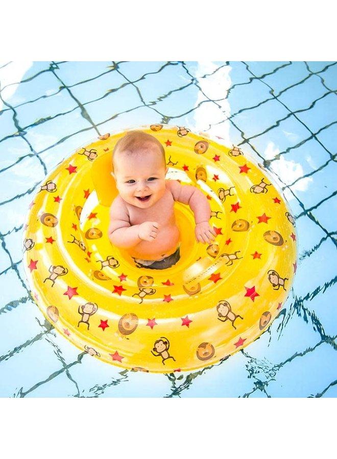 Swim Essentials - Circus Baby float 0-1 jaar Geel