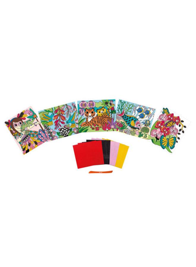 Janod - Atelier - Velvet kaarten maken