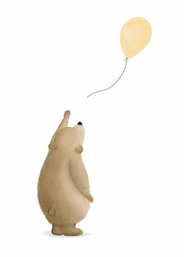 Kaart - A6 - Beertje met ballon geel