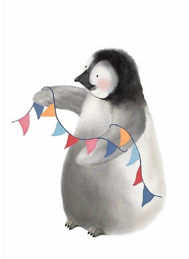 Getekenddoorzusje - Kaart - A6 - Pinguïn