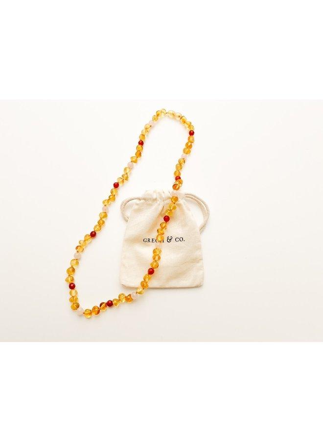 Grech & Co - Baltic Amber - Necklace - Goddess Light - 001