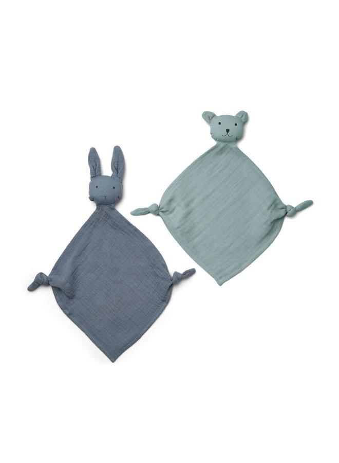 Yoko Mini Cuddle Cloth 2-pack - Blue Mix