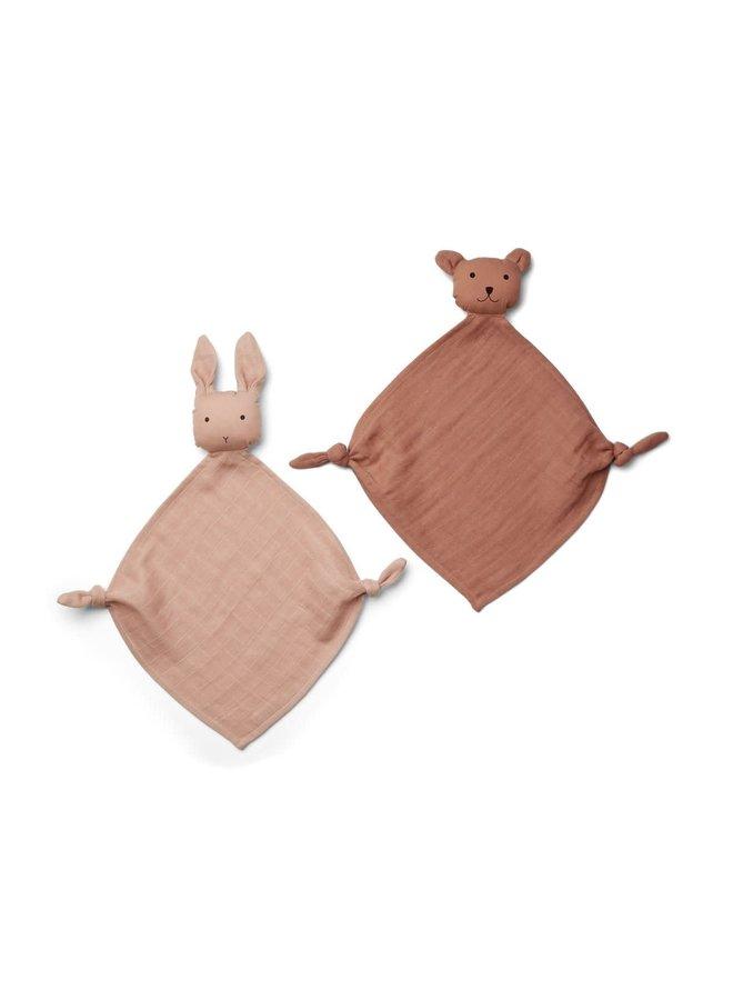 Yoko Mini Cuddle Cloth 2-pack - Rose Mix