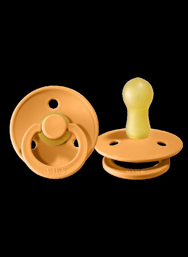Fopspeen natuurrubber - Apricot - Maat 2