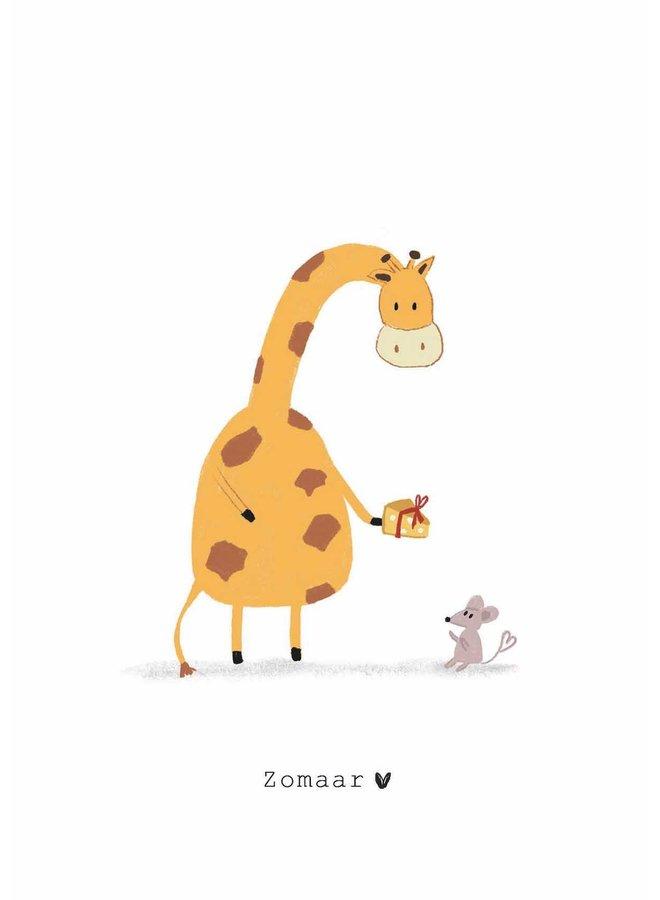 Kaart - Zomaar - Giraffe en Muis