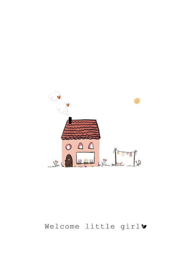 Kaart - Welcome Little Girl - A0036