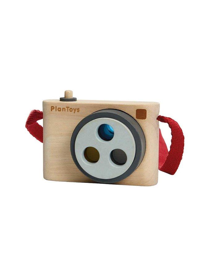 Camera met kleurlens