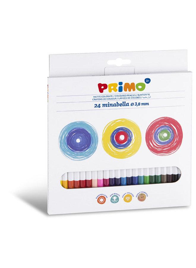 24 Minabella kleurpotloden ø3.8mm in doos
