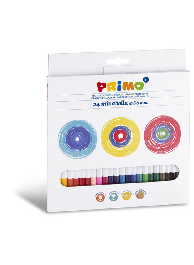 Primo - 24 Minabella kleurpotloden ø3.8mm in doos