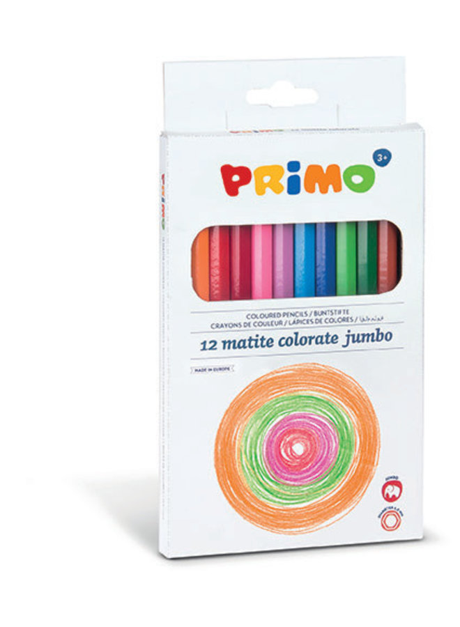 Primo - 12 Jumbo kleurpotlood ø5.5mm in doos