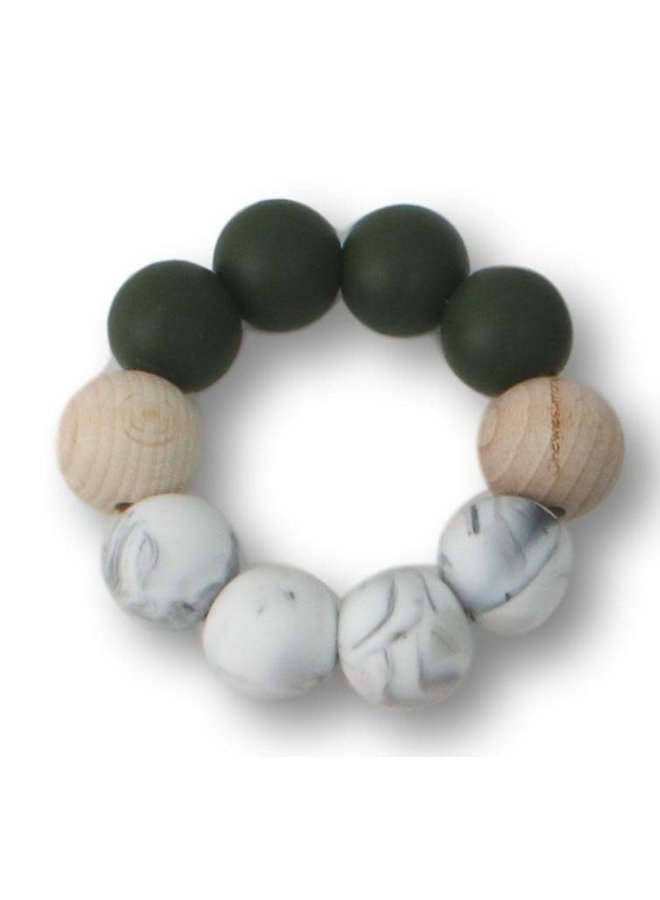 Chewies and More - Basic Chewie - Deep Green & Marble