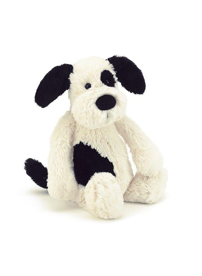 Jellycat - Bashful Black & Cream Puppy Medium