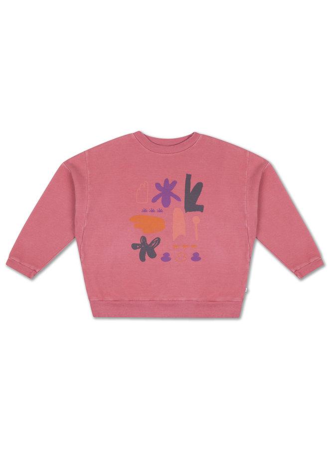 Crewneck Sweater - Hot Flamingo