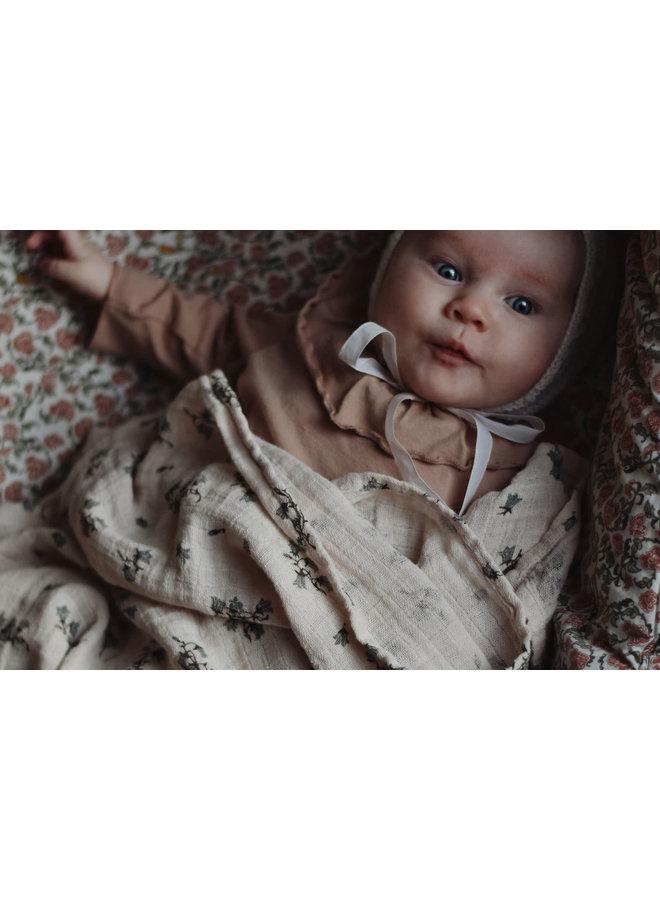 Garbo & Friends - Bluebell Muslin Swaddle Blanket