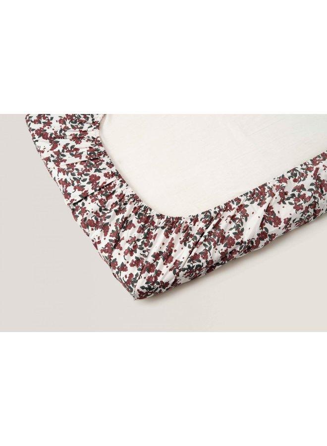 Garbo & Friends - Cherrie Blossom Junior Fitted Sheet - 70 x 140 x 20