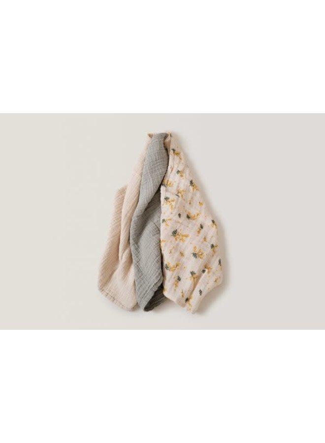 Mimosa Muslin Burp Cloth 3 pcs