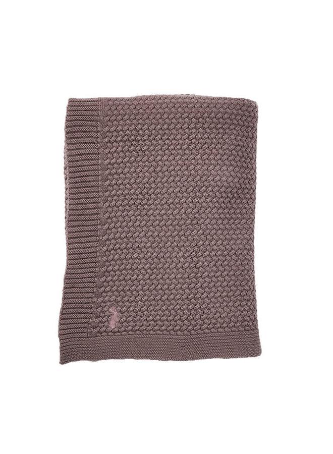 Gebreide wieg deken - Rosewood