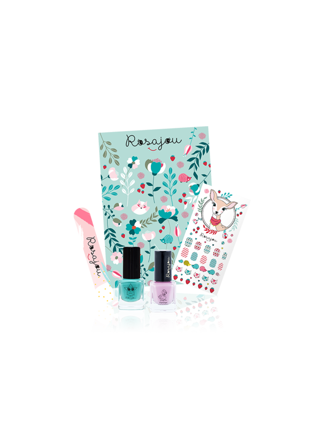 Nail polishes kit - Lagon / Flamingo