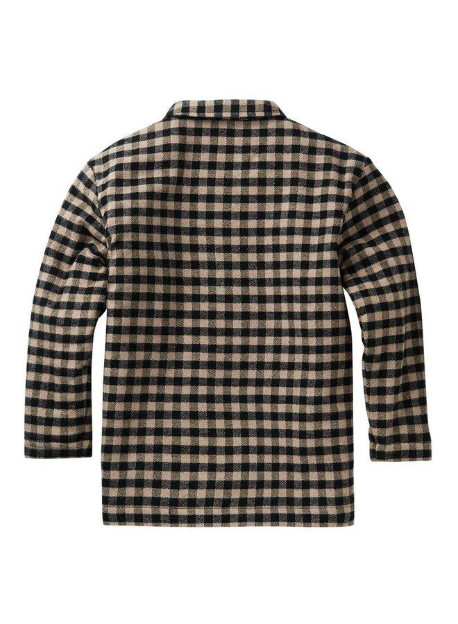Flannel Checked Shirt Caramel / Black