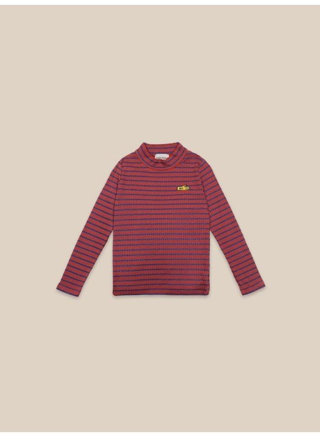 Striped Turtle Neck T-shirt