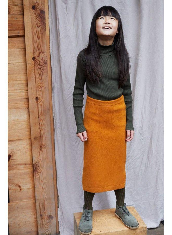 Fine Knit Skirt Dark Ginger