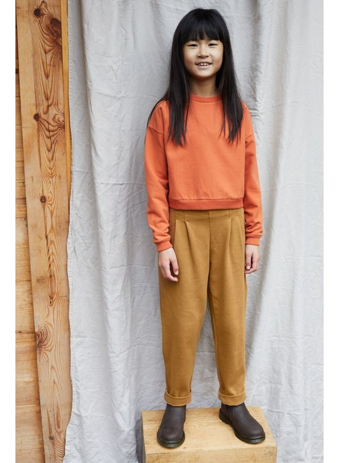 Cropped Sweater Dark Ginger