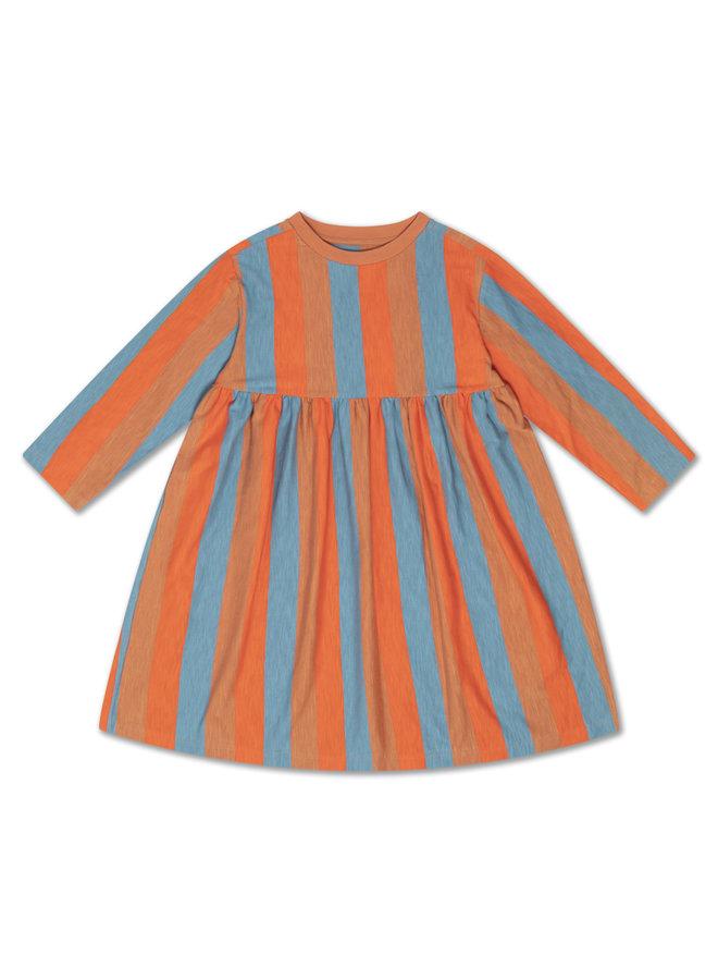 Midi Dress - Multi Block Stripe