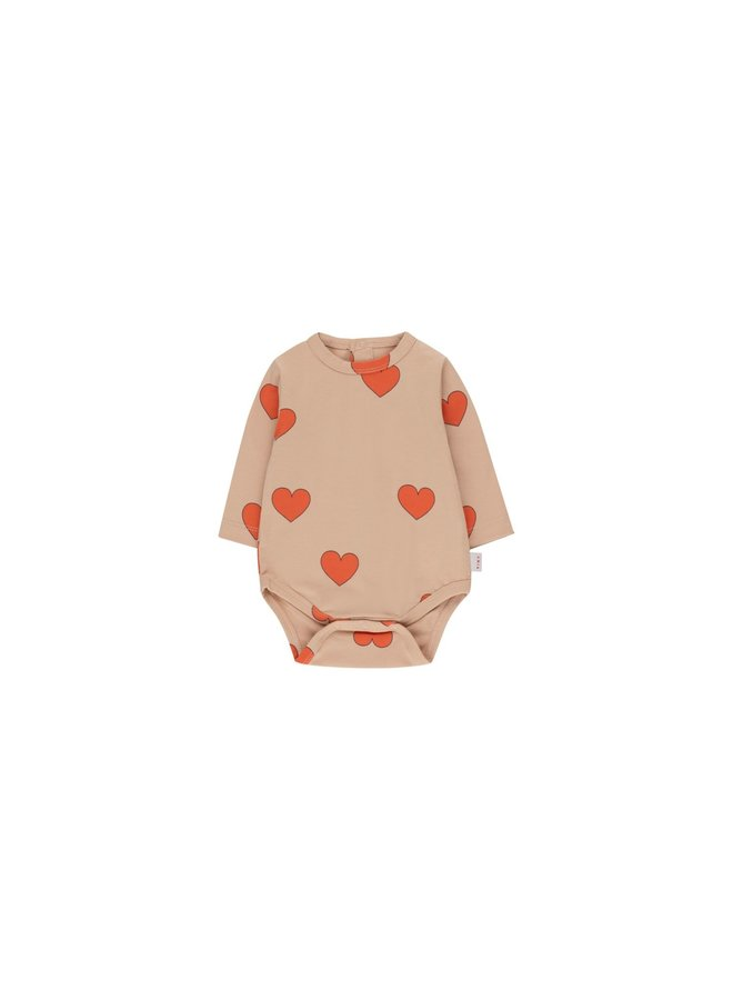 Hearts Body - Light Nude/Red