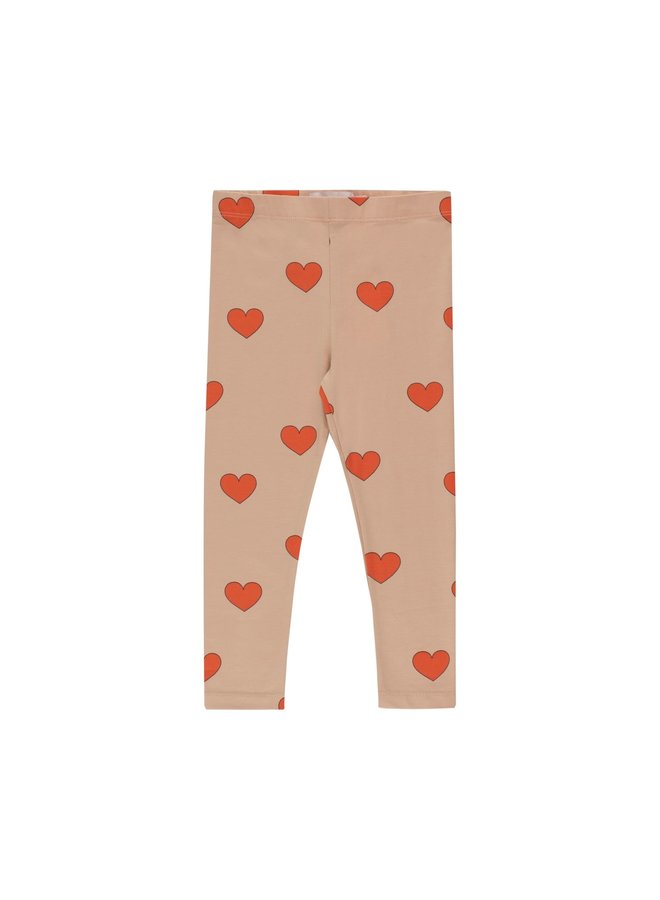 Hearts Pant - Light Nude/Red