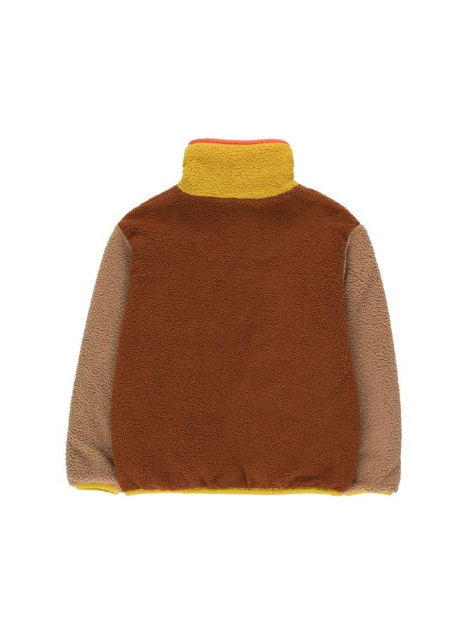 Color Block Polar Jacket - Sienna/Tan