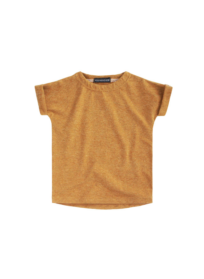 Solid Camel   Boxy Tee