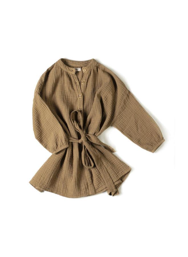 Cord Dress - Olive