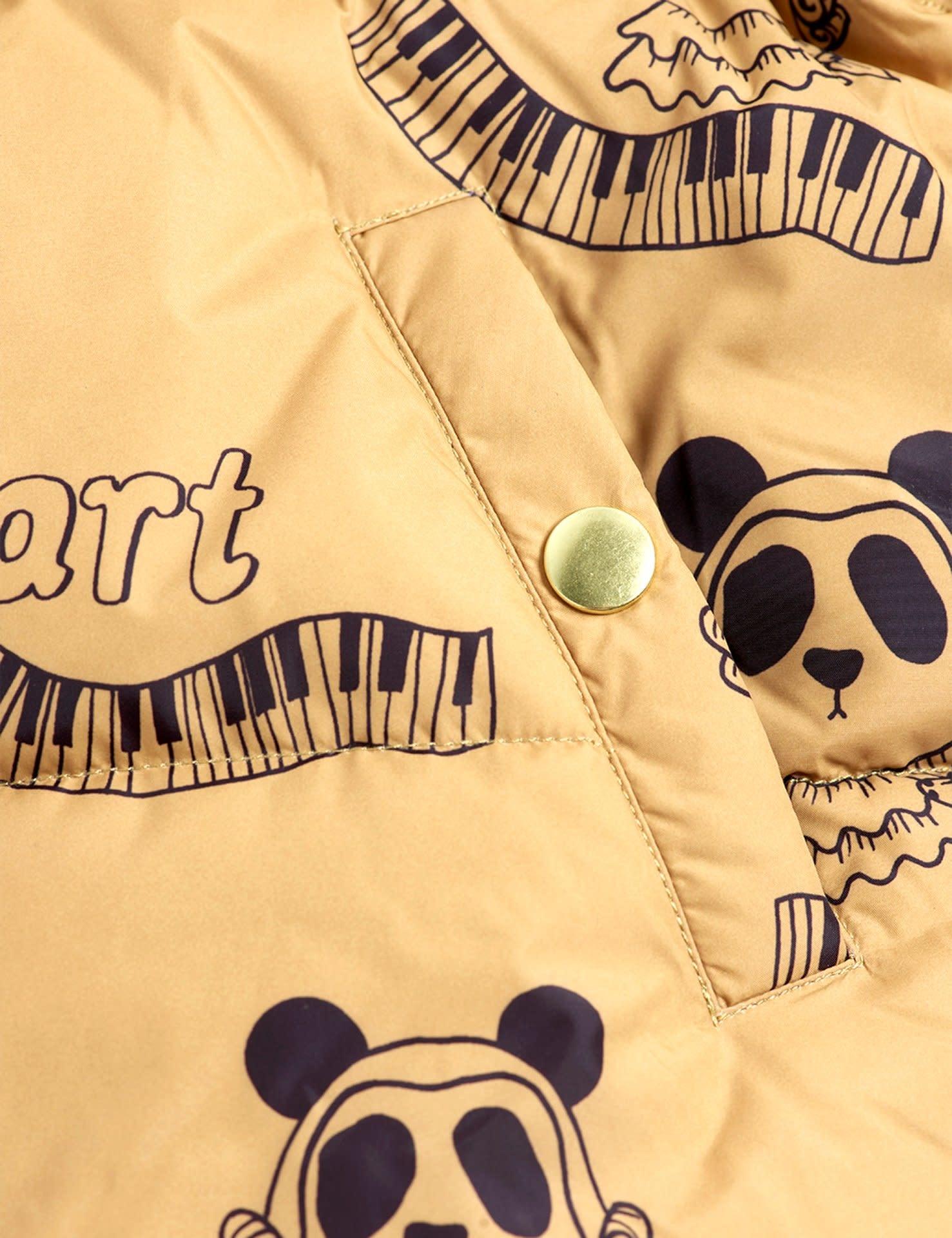 Mini Rodini Mozart panda puffer jacket Chapter 1 Beige