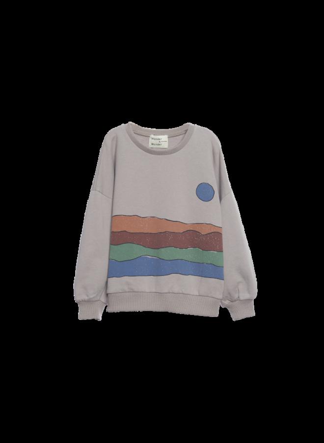 Desert Print Sweatshirt - grey