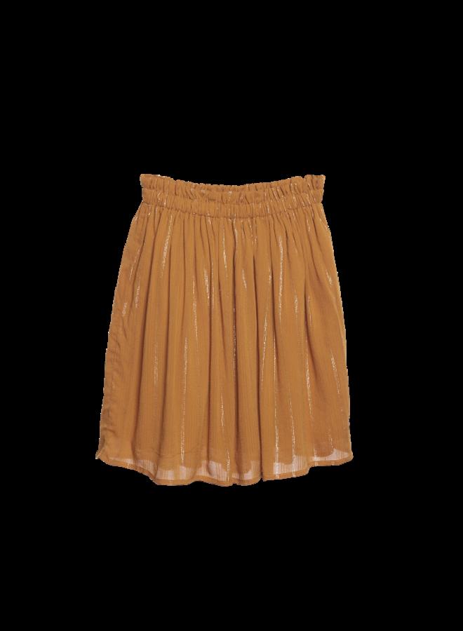 Gathered Skirt - turmeric lurex