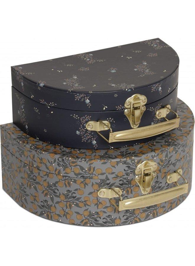 2-Pack Luggage Round - Orangery Blue / Nostalgie Blue