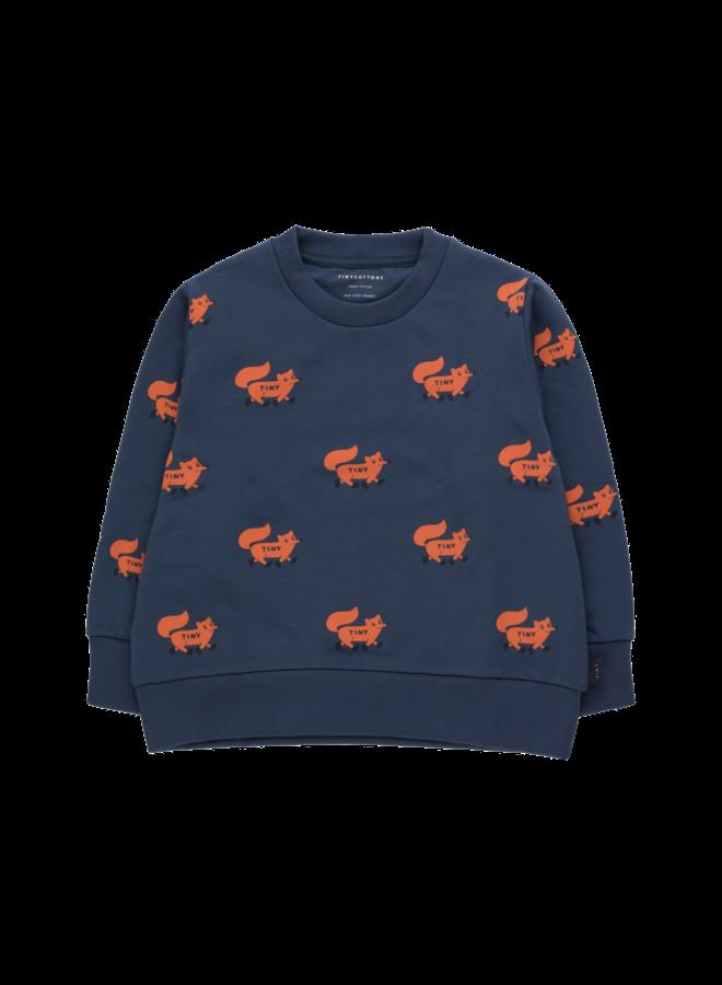 Foxes Sweatshirt - Light Navy / Sienna