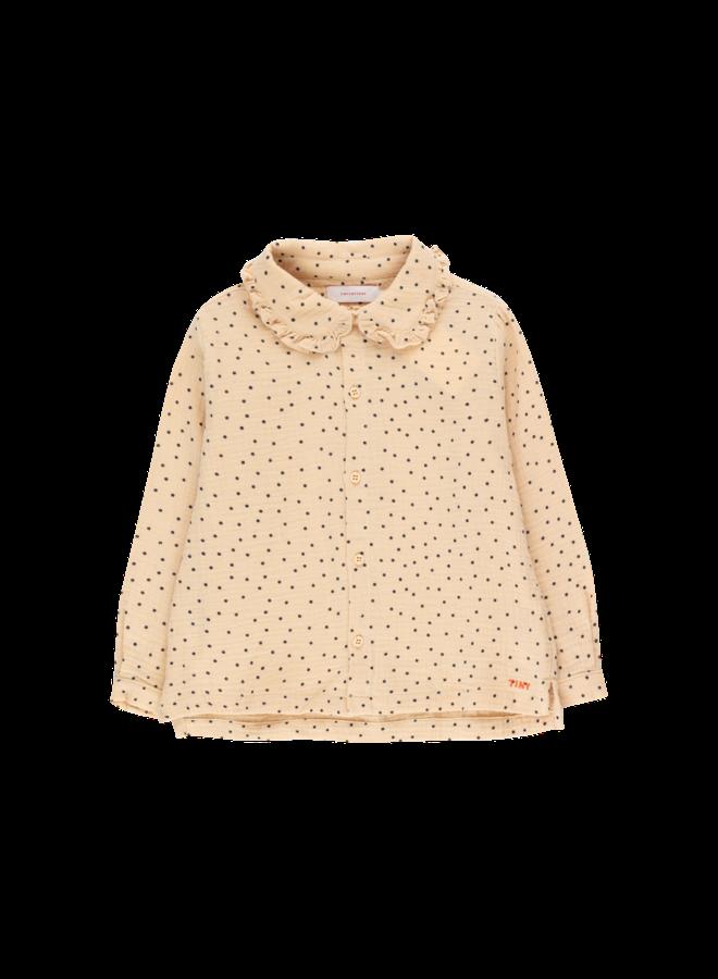 Tiny Dots Shirt - Cappuccino / Navy