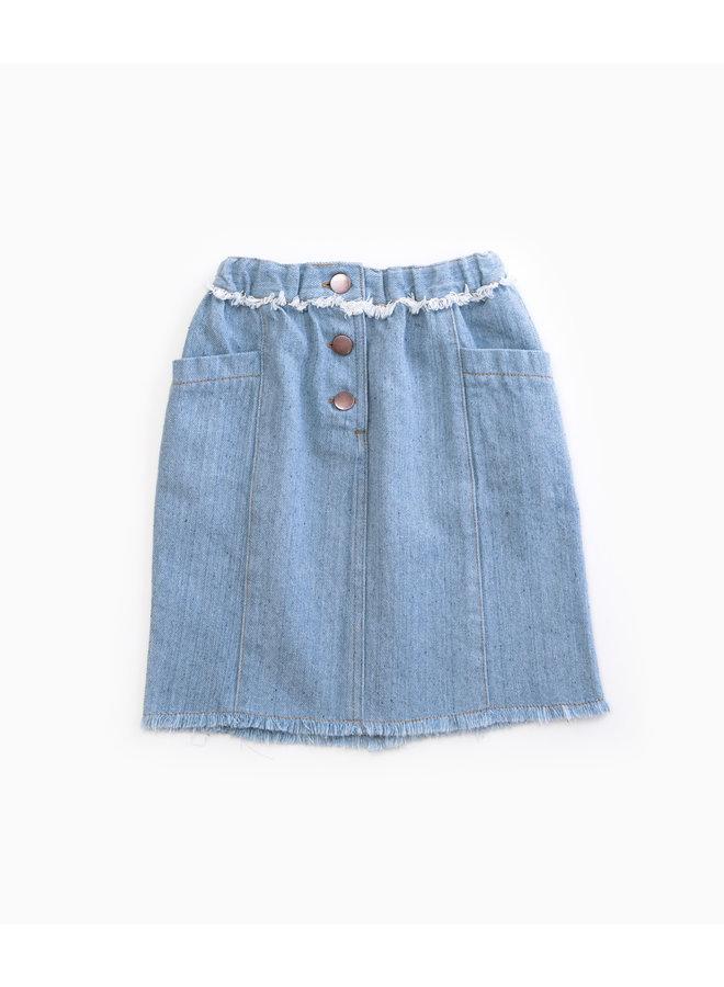 Recycled Denim Skirt - D001