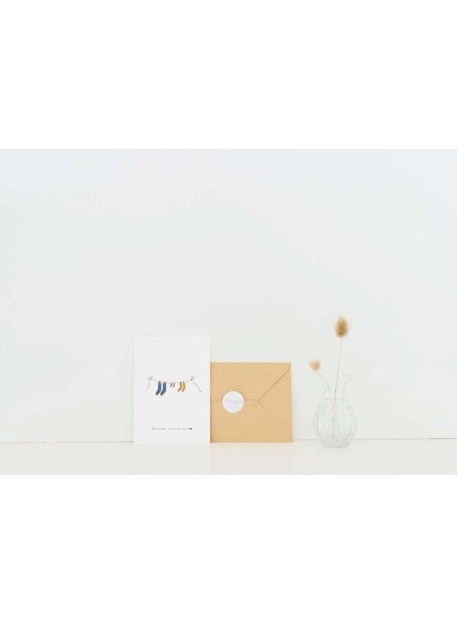 Kaart - Welcome little one - Waslijn - A0039