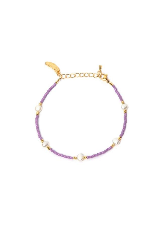 Ocean Pearl Bracelet Lila