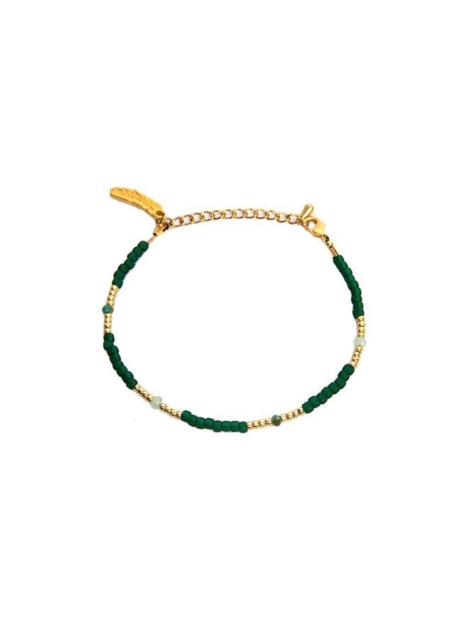 Green Emerald Bracelet Gold