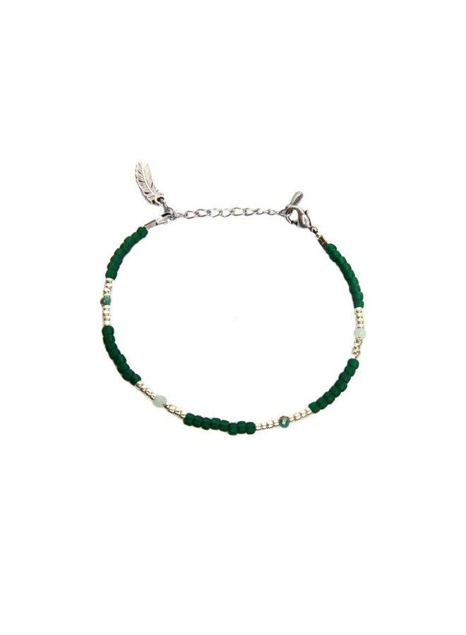 Green Emerald Bracelet Silver