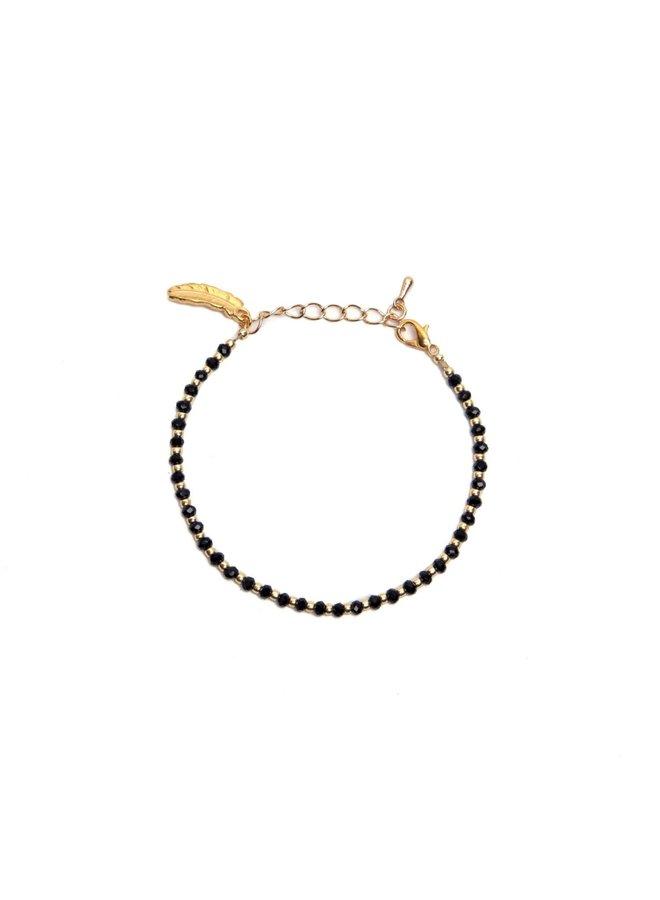 Nina Black Gold Bracelet