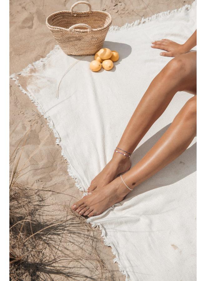 Ocean Pearl Anklet Lila