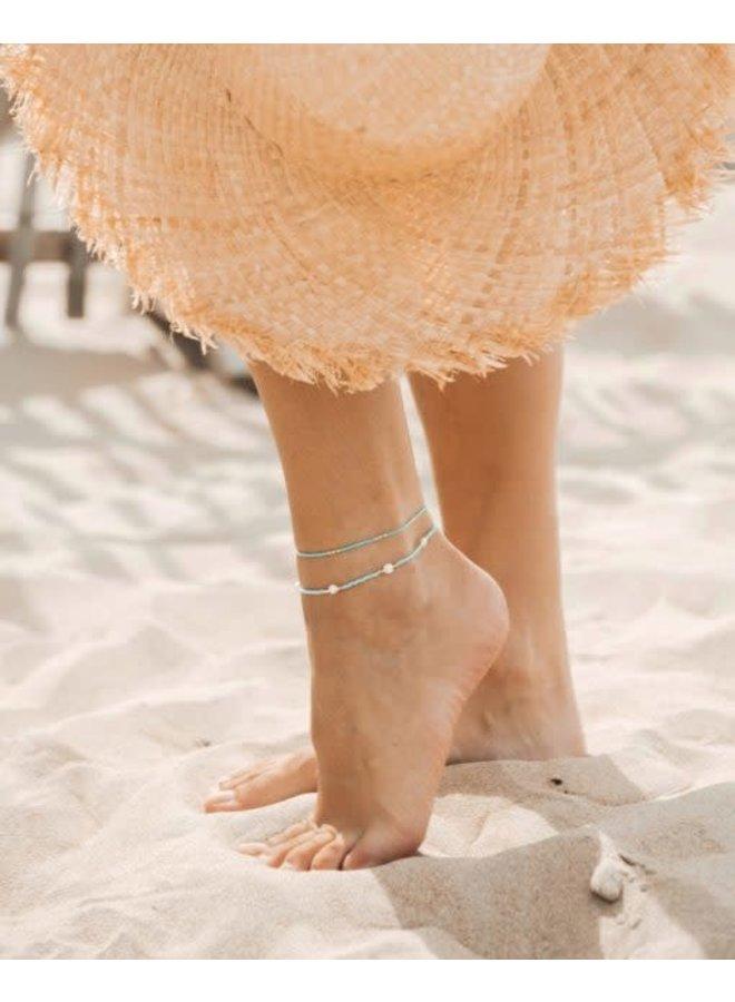 Breeze Anklet White