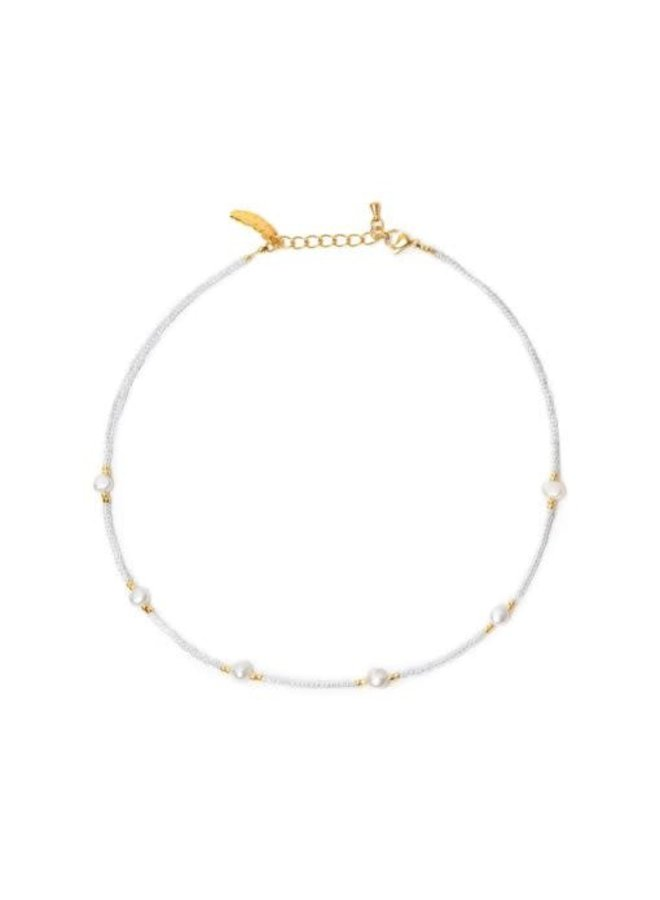 Ocean Pearl Necklace White